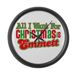 Christmas Emmett Large Wall Clock