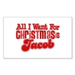 Christmas Jacob Rectangle Sticker