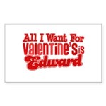 Edward Valentine Rectangle Sticker 50 pk)