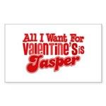 Jasper Valentine Rectangle Sticker 10 pk)