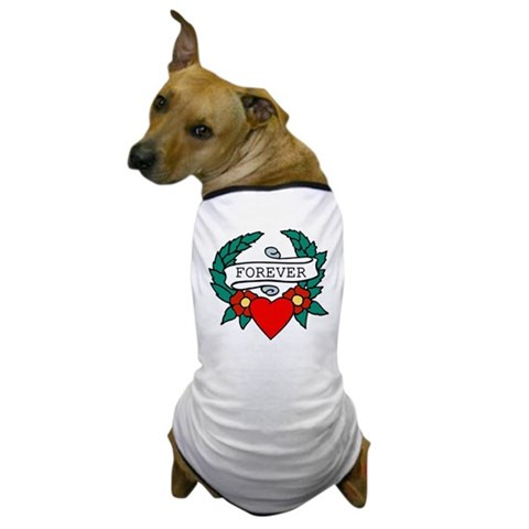 Anbu Tatto on Forever  Tattoo Heart Dog T Shirt   Forever  Tattoo Heart Dog T Shirt