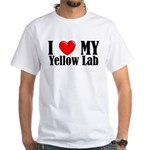 I Love My Yellow Lab White T-Shirt