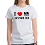 I Love My Rescued Lab Women's T-Shirt