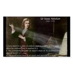 Isaac Newton Laws Motion Rectangle Sticker