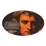 Sir Isaac Newton Space Oval Sticker