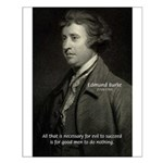Edmund Burke: Good & Evil Small Poster