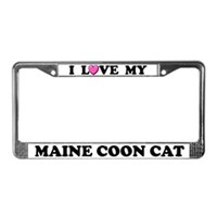 Maine Coon License Plate Frames