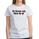 Heart Owning Rescue Lab Women's T-Shirt