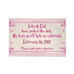 Personalized Save Date Rectangle Magnet (100 pack)