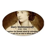 Philosophical Feminism Oval Sticker