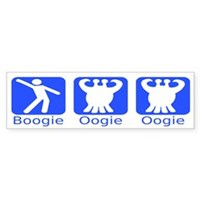 Boogie Oogie Oogie Space Alien with Tentacles Disco bumper sticker