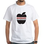 Black Apple White T-Shirt