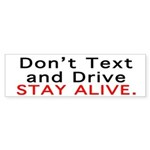 Don't Text and Drive Sticker (Bumper 10 pk)