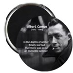 "Albert Camus Motivational 2.25"" Magnet (10 pack)"