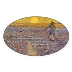 Vincent Van Gogh Paintings Oval Sticker