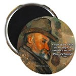 "Cezanne Emotion Artistic Quote 2.25"" Magnet (10 pa"