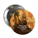"Cezanne Famous Paris Quote 2.25"" Button (10 pack)"