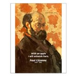 Cezanne Famous Paris Quote Small Poster