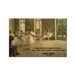 Degas Dancers Quote Rectangle Magnet (10 pack)