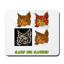 Cats On Catnip Mousepad