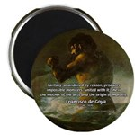 Goya Colossus Fantasy Quote Magnet