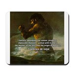 Goya Colossus Fantasy Quote Mousepad