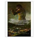 Goya Colossus Fantasy Quote Small Poster