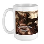 Michelangelo Perfection Quote Large Mug