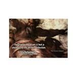 Michelangelo Perfection Quote Rectangle Magnet
