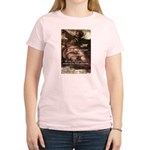 Michelangelo Perfection Quote Women's Pink T-Shirt