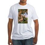 Sistine Chapel Adam & Eve Fitted T-Shirt