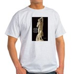 Michelangelo Angel in Sculpture Ash Grey T-Shirt