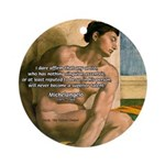 Michelangelo Nude Painting Ornament (Round)