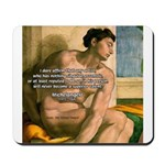 Michelangelo Nude Painting Mousepad