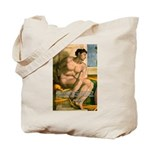 Michelangelo Nude Painting Tote Bag