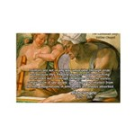 Michelangelo Art Philosophy Rectangle Magnet (10 p