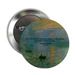 Claude Monet Torture Art Button