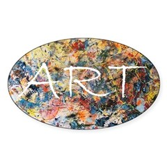 Action Painting Sticker (Oval)