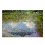 Monet Painting: Beauty Quote Postcards (Package of
