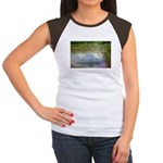 Monet Painting: Beauty Quote Women's Cap Sleeve T-