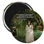 "Berthe Morisot Art Quote 2.25"" Magnet (100 pack)"