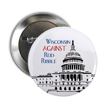 Wisconsin Against Reid Ribble campaign button