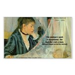 Female Artist Morisot Quote Rectangle Sticker