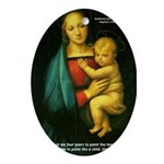 Raphael Madonna Painting Oval Ornament