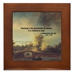 Rembrandt: on God & Painting Framed Tile