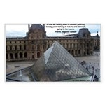 Renoir The Louvre & Nature Rectangle Sticker