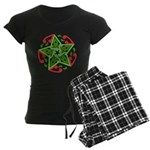 Celtic Christmas Star Women's Dark Pajamas