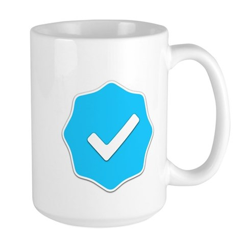 """Verified Account"" Large Mug by twitter001- 514335151"
