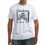 Diabetes Awareness Fitted T-Shirt