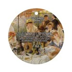 Renoir Quote and Landscape Ornament (Round)